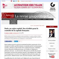 Géopolitique de Paris, un enjeu capital. Par un docteur en géopolitique, M. Jeanne. Illustré d'une carte inédite