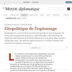 Géopolitique de l'espionnage, par Dan Schiller (Le Monde diplomatique, novembre 2014)