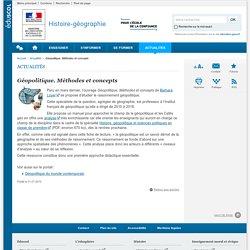 Géopolitique. Méthodes et concepts-Histoire-géographie-Éduscol