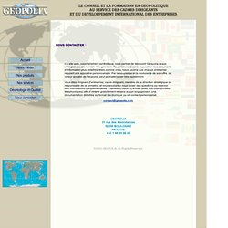 Conseil Geopolitique et Relations Internationales > Contact