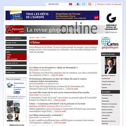 Chine - Diploweb.com, revue geopolitique, articles, cartes, relations internationales