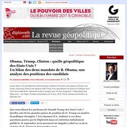 Quelle géopolitique des Etats-Unis après deux mandats d'Obama (...) - Amérique du Nord