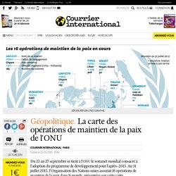 ONU: les opérations de maintien de la paix