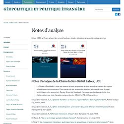 Géopolitique et politique étrangère