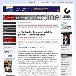 """Classique géopolitique G. Chaliand, """"Le nouvel art de la"""