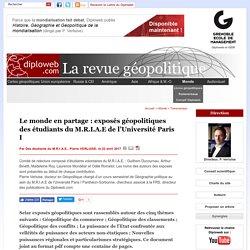Exposés géopolitiques des étudiants du MRIAE de l'Université Paris I Panthéon-Sorbonne
