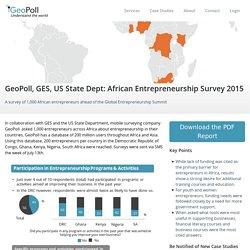 GeoPoll, GES, US State Dept: African Entrepreneurship Survey