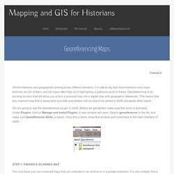 Mapping and GIS for Historians