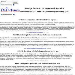 George Bush Sr. on Homeland Security