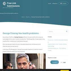 George Clooney has health problems