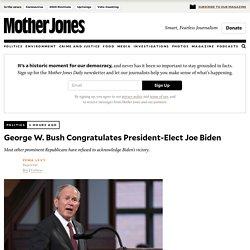 11/8/20: GW Bush Congratulates President-Elect Biden