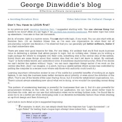 George Dinwiddie's blog » Don't You Have to LOGIN first?
