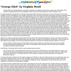"""George Eliot"" by Virginia Woolf"