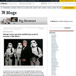 George Lucas, pas plus emballé que ça par le nouveau «Star Wars»