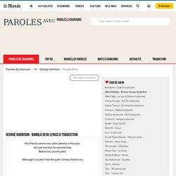 George Harrison - Bangla Desh Lyrics & traduction