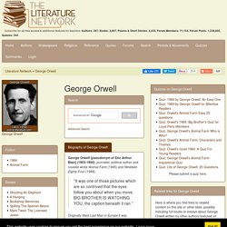 What is a good research paper topic for George Orwell?