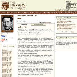 1984 by George Orwell. Search eText, Read Online, Study, Discuss.