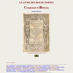 George Ripley - LE LIVRE DES DOUZE PORTES - Alchimie