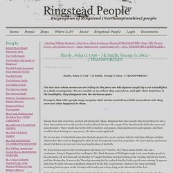 Hardy, John (c 1796 - ) & Smith, George (c 1802 - ) TRANSPORTED? - Ringstead People - Ringstead People