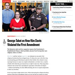George Takei on How Kim Davis Violated the First Amendment