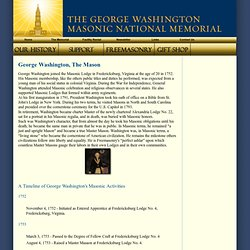 George Washington, the Mason