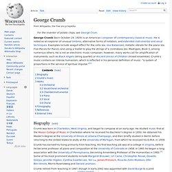 George Crumb