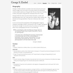 George Zimbel | Biography