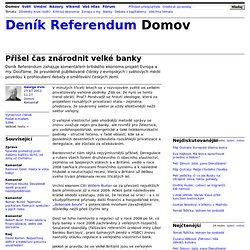 George Irvin: Přišel čas znárodnit velké banky