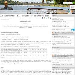 Georges Patient » Amendement n° I-177 – Projet de loi de finances 2014