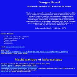 Georges Hansel. Pensée juive