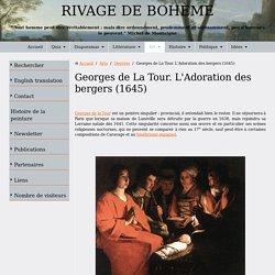 Georges de La Tour. L'adoration des bergers (1645)