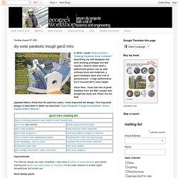 diy solar parabolic trough gen2 intro