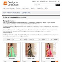 Buy Designer Georgette Sarees Online in India