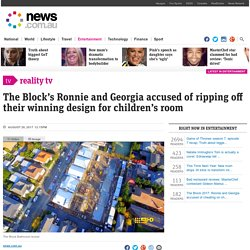 The Block's Ronnie and Georgia accused of ripping off their winning design for children's room