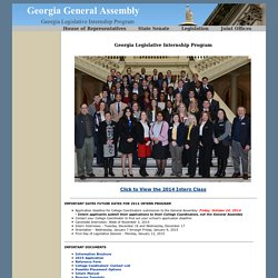 Georgia Legislative Internship Program
