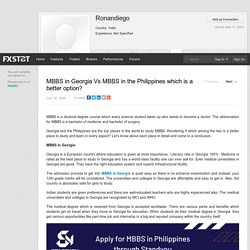 MBBS in Georgia Vs MBBS in the Philippines which is a better option?