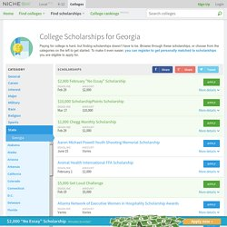 Georgia Scholarships - Niche