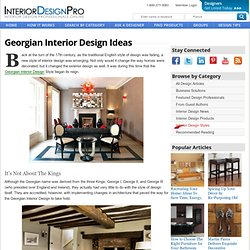 Georgian Interior Design Ideas - @DesignProNews