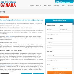 Car Loans Georgina Ontario Always Gets Fast Cash and Quick Approvals