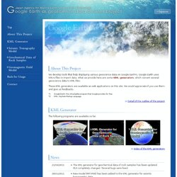 ogle Earth as geoscience data browser project