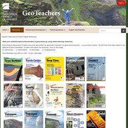 Explore! Geoscience ETeach Digital Resources - Teachers