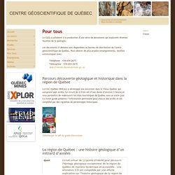CGQ - Centre géoscientifique de Québec - Quebec Geoscience Centre