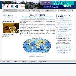 Geoscope - Accueil