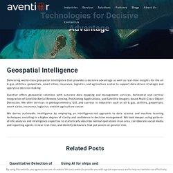 Geospatial Intelligence Solution Providers