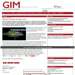 Geospatial Data - Mapping - GIM International