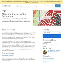 Maps and the Geospatial Revolution - The Pennsylvania State University