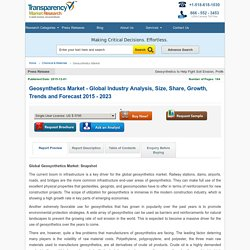 Geosynthetics Market - Global Industry Analysis, Size, Share, Growth, Trends and Forecast 2015