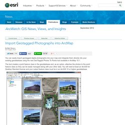 Import Geotagged Photographs into ArcMap