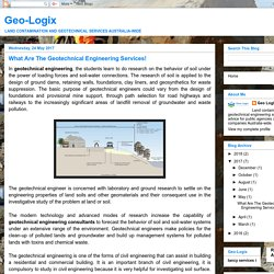 What Are The Geotechnical Engineering Services!