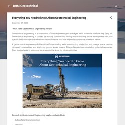 Everything You need to know About Geotechnical Engineering